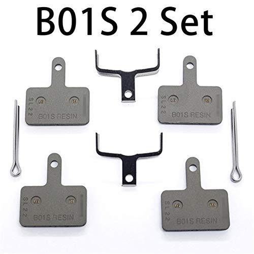 2 Par B01S Pastillas de Freno Pastillas de Freno de Disco de Resina for MTB MT200 / M315 / M355 / M395 / M446 / M575 / M486 / M485 / M445 (Color : B01S 2 Set)