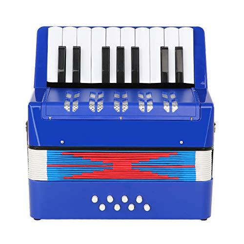 Topnaca Kinder Akkordeon, Spielzeug Akkordeon, Mini Akkordeon,17 Tasten 8 Bass, Solo und Ensemble, Ziehharmonika Musikinstrument Spielzeug für den Frühkindlichen, Gutes Geschenk für Kinder