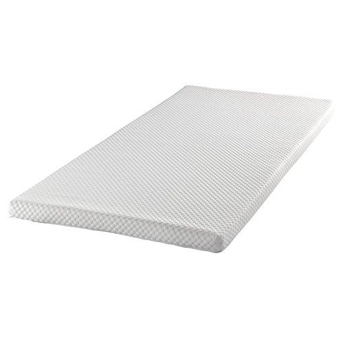 Todocama - Topper viscoelástico - 6cm de viscoelástica - 3D Transpirable - Doble Funda Tejido Strech con Cremallera -...