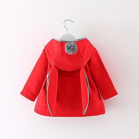 Outdoor Warme Outwear Coat Windjacke Verdicken Mantel Babykleidung Zhen Unisex Baby Jacke Strickjacke 0-4 Jahre M/ädchen Winter Mantel Parka mit Kaninchenohr Kapuzen