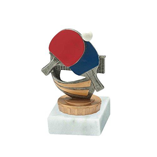 RaRu Tischtennis-Pokal mit Wunschgravur und Resin-Klebefigur
