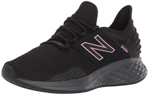 New Balance Women's Fresh Foam Roav V1 Sneaker, Magnet/Black/Champagne Metallic, 8.5 M US