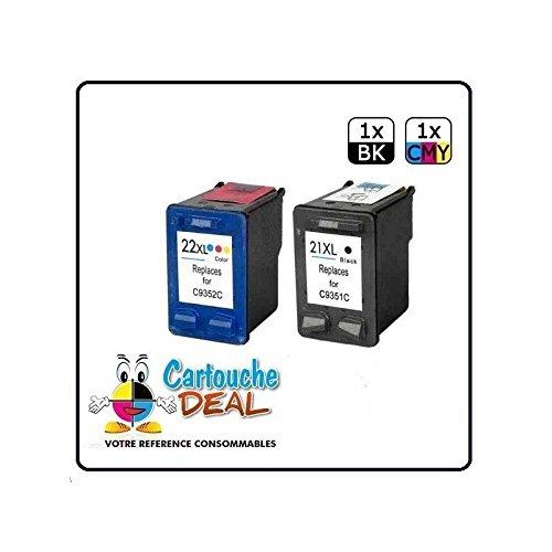 Deal- Genérico-Juego de 2 cartuchos HP 21XL 22XL F4100 HP Deskjet F4180 2 unidades F4135 F4140 F4150 F4175 F4185 F4188 F4190 F4194 HP21 XL-HP22