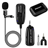 Wireless Lavalier Microphone,2.4G Clip-on Lapel Mic Compatible with iPhone,Android Smartphone,DSLR,PC Computer,Voice Amplifier,PA System,Stage Speakers,for YouTube,Interview,Teaching,Public Speaking