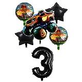 ENXI Globos 6pcs Blaze Monster Machines Tema de Coche Fiesta de cumpleaños Decoraciones de la Fiesta de 32 Pulgadas Globos Set Boys Favors Toy Shower Shower Suministros ( Color : 3 )