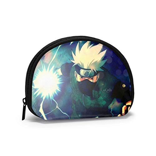 Bolso de cierre para hombre y mujer, con cierre de conchas, personajes de Naruto populares con cremallera para llaves Ipsti