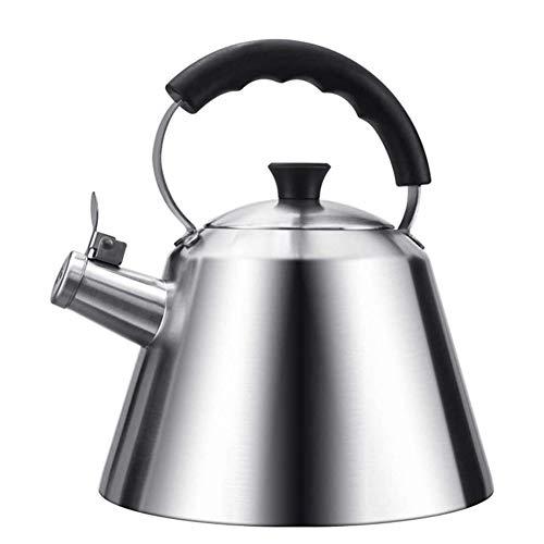 TQJ Teteras Para te Acero Inoxidable Manejar grandes silba del acero inoxidable hervidor de agua con 304 plegable de la estufa de acero inoxidable de 3 litros silbido de gas cocina de inducción Calder
