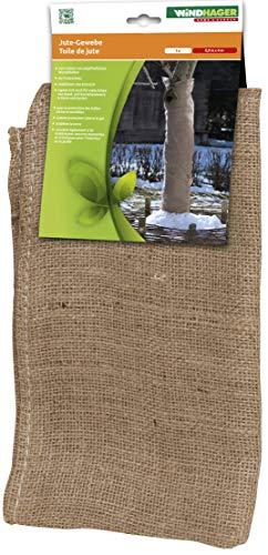 Windhager Jute-Gewebematte, Winterschutz Matte für Bäume und Sträucher, 0,91 x 4 m, braun, 06585
