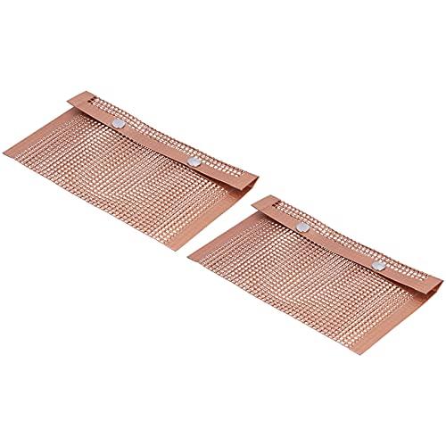 Alvinlite Bolsa de Malla para Barbacoa Resistente a Altas temperaturas Bolsa de Parrilla Reutilizable 5.5X9.4 Pulgadas 2 Piezas