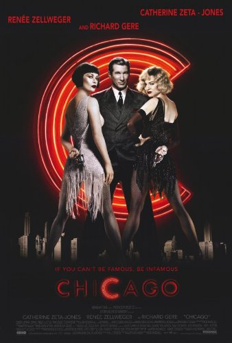 Chicago Poster Movie 11x17 Ren?e Zellweger Catherine Zeta-Jones Richard Gere Queen Latifah MasterPoster Print, 11x17