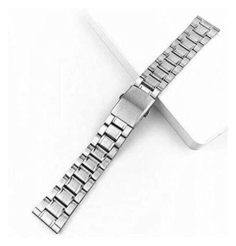 Beapet Banda de Reloj de Acero 12/14 / 16/19 / 20 / 22mm Dictac Silver Silver Acero Inoxidable Correa de muñeca Pulsera de muñeca Reloj de Metal con Cierre Plegable para Hombres Mujeres