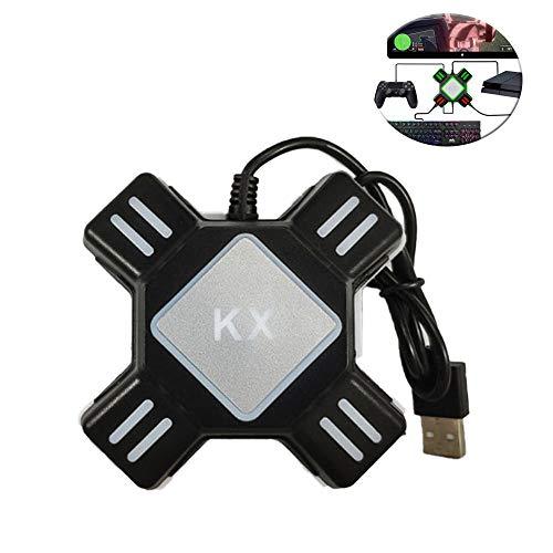 Kraeoke Tastatur Maus Adapter, KX Adapter Tastatur Maus Konverter für Nintendo Switch/Xbox One/Xbox One S / PS4 / PS3