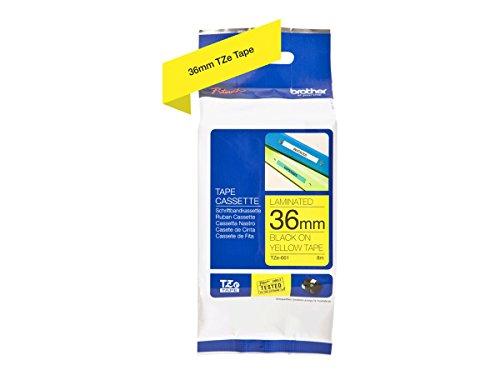 TZe-Schriftband für P-touch, laminiert, 36mm breit, 8m lang, gelb
