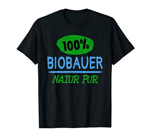 Biobauer T-Shirt Bio Bauer Shirt Natur Pur Geschenk Landwirt T-Shirt