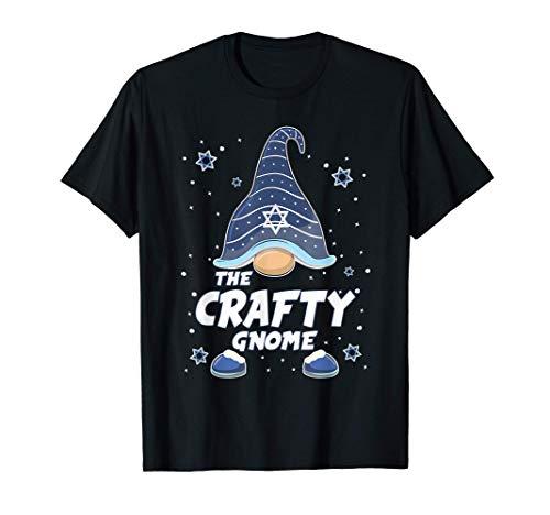 Crafty Gnome Funny Hanukkah Family Matching Gift Pajama T-Shirt