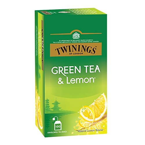 Twinings Green Tea & Lemon, 100 Teabags, Green Tea,...