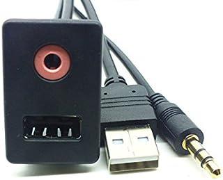 Lollipop Car AUX Cable Adapter Switch with 3.5mm Audio Jack USB Cable AUX Cable Extention Mount, Flush, Dash, Panel Mount ...