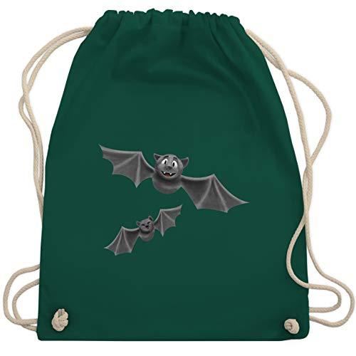 Shirtracer Halloween - süße Fledermäuse - Unisize - Dunkelgrün - turnbeutel grün - WM110 - Turnbeutel und Stoffbeutel aus Baumwolle