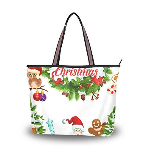 para mujeres, niñas, señoras, estudiantes, correa ligera, regalo de santa claus, árbol de navidad, cartel festivo, monedero, bolso de compras, bolsos de hombro, bolsos
