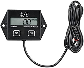 Runleader Digital Hour Meter Tachometer, Maintenance Reminder, Battery Replaceable, Automatically shutdown, Use for ZTR Lawn Mower Tractor Generator Marine ATV Snowmobile and Gas Powered Equipment