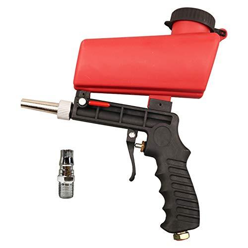 Kit de pistola de chorro de arena, herramienta de pulverización de chorro de arena para eliminar pintura, manchas, óxido y superficies limpias