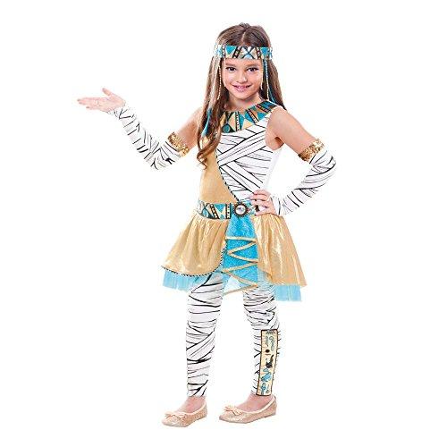 SP Funworld - Disfraz de Cleopatra para nias con Tocado, Guantes, Pantalones, Multicolor, XL