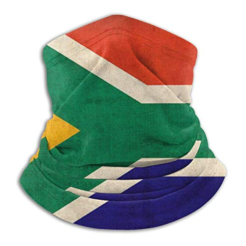 WlQshop Vintage South African Flag Neck Warmer Gaiter Fleece Ski Face Cover Cover for Winter