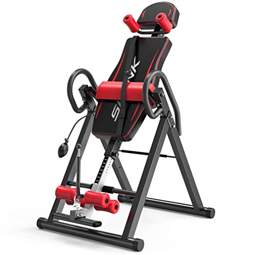 Great Price! LCJ Foldable Premium Gravity Inversion Table, 220LBS Vertical Climber Folding 2 in 1 Cl...