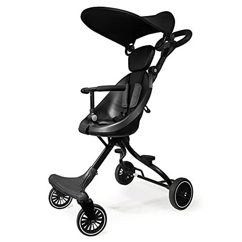 Passeggino del Bambino Pieghevole Pieghevole Pieghevole Paesaggio a Due Vie Passeggino a Due Vie Baby Passeggino Hot Mom Bebè Carrozzina per Bambini Carrello (Color : Baby Stroller4)