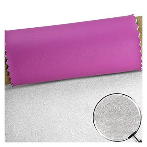 Tela por Metros de Polipiel para Tapizar, Púrpura Ancho 138cm Tela de Grano de Cuero de Imitación Material Texturizado por Tapizar, Polipiel, Manualidades, Cojines O Forrar Obj(Size:3m,Color:Púrpura)