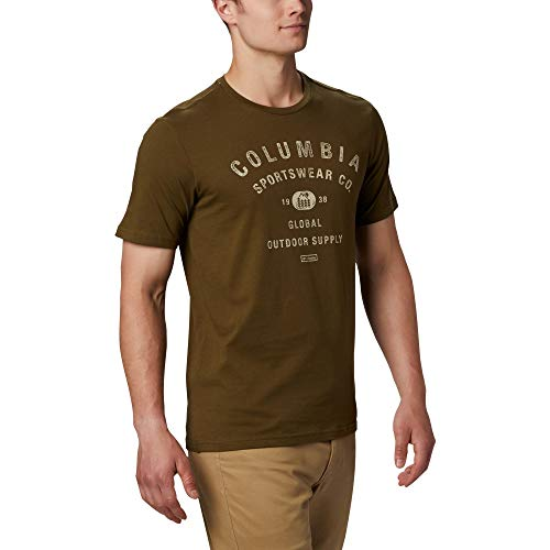 Columbia Path Lake Graphic T-Shirt Homme New Olive CSC Bas FR: XL (Taille Fabricant: XL)