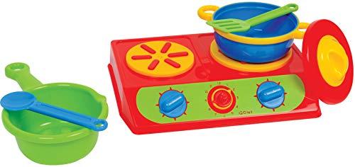 Gowi 454-95 2er Herd, 6-teilig, Küchenspielzeug