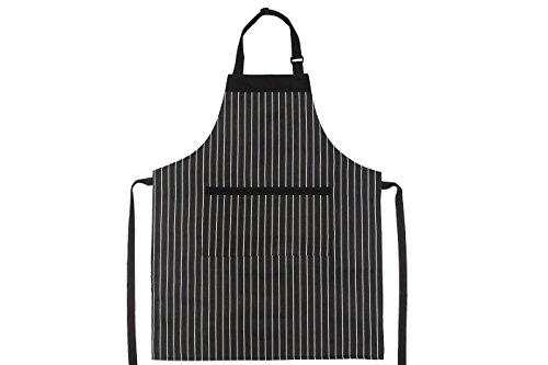 Schürzenkult Verstellbare Kochschürze Profikoch Schürze: Große Unisex Grillschürze für BBQ, Kochen, Backen & Parties - Bequeme Latzschürze für Kinder, Damen & Herren mit 2 Innentaschen - Pflegeleicht