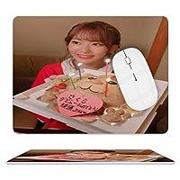 宫脇咲良 マウスパッド滑り止め付き超薄型防水PVCレザーマウスパッドステッチエッジコンピュータノートパソコンあらゆるタイプのマウスパッドオフィス