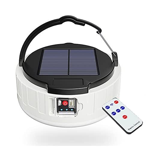XCUGK Lámpara LED Solar de Camping, Linterna Recargable por USB portátil luz de Emergencia con 4 Modos luz de búsqueda Impermeable Power Bank para Senderismo de Emergencia