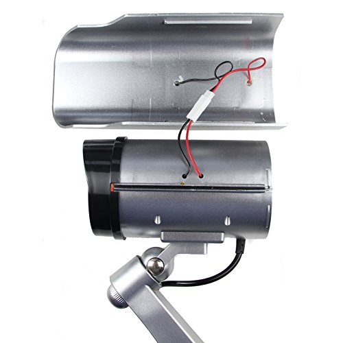 Best Dummy Camera Solar Powered - Blinking Red LED Light - Internal Lithium Rechargeable Battery - Never Buy Batteries Again - D
