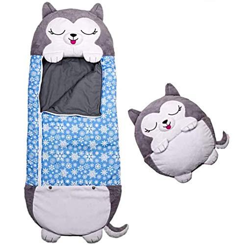 TTZZ One piece Kids Animal Sleeping Bag2 IN 1 CartoonNap Pillowwith 8 Styles Foldable Washable Comfy Fun Soft Sleeping Bag for 3 6yrsG