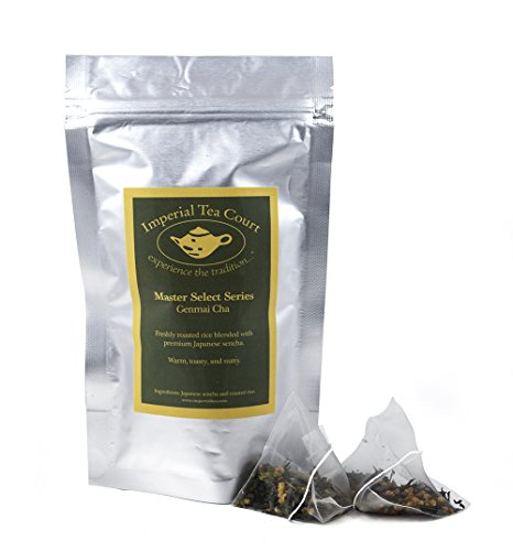 Genmai Cha -- full leaf pyramid tea bags, 20 count