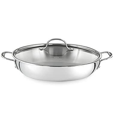 Calphalon Tri-Ply 12-Inch Stainless Steel Everyday Pan with Cover