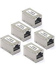 VCE RJ45 kopplare skärmad Cat6 RJ45 kopplare hona till hona 5-pack