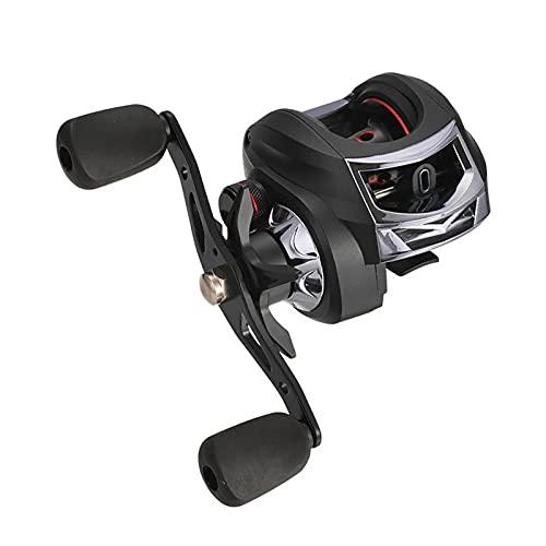TASGK Carrete de Pesca 13+1BB Baitcasting 6,3:1 Alta Velocidad 8KG de Arrastre Máximo Mano Izquierda y Derecha Carrete de Pesca Reforzado,Right