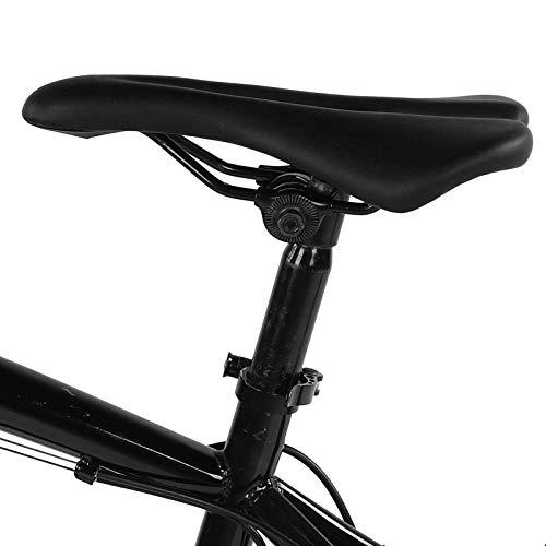 BOLORAMO Asiento Suave de la Bicicleta del Amortiguador de la Bici del Aspecto Exquisito, para la Bici de montaña(Negro)