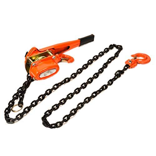cciyu 1.5 Ton Lever Block Ratchet Chain Hoist Lift Puller Winch Come Along 10 feet Hand Manual Lever Block Crane Lifting Sling Material