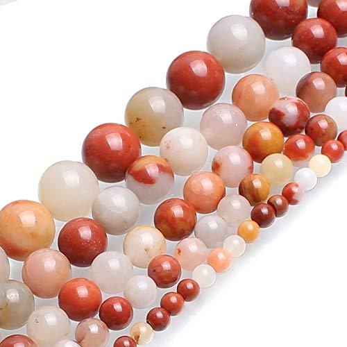 MAYAN SHYSP Cuentas de Piedra Natural de la Ronda Jade Multicolor Granos for la fabricación de la joyería Pulsera 4/6/8/10/12 mm Recoger 15inches tamaño (Item Diameter : 12mm 30pcs Beads)