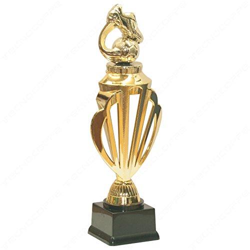 tecnocoppe Trofeo Calcio h 28,00 cm Premiazione Targhetta Personalizzata Omaggio