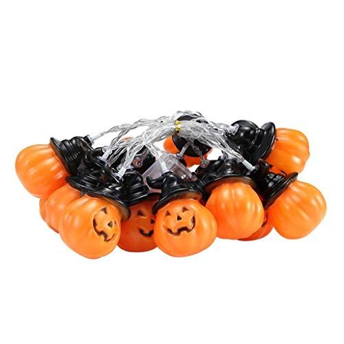 Fineday Halloween Pumpkin Lights LED String Lights Halloween Decoration, Toys and Hobbies (Yellow)
