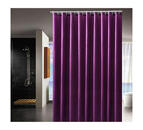 MaxAst Duschvorhang Anti Schimmel Duschvorhang Einfach Duschvorhang Polyester Lila Duschvorhang Badewanne 240x180