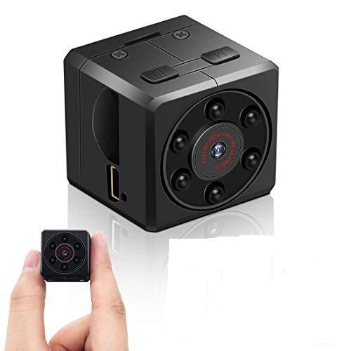 Mini Kamera, euskDE Full HD 1080P Tragbare Kleine Überwachungskamera, Mikro versteckte Kamera mit Bewegungserkennung und Infrarot Nachtsicht, Compact Sicherheit Kamera für Innen und Aussen