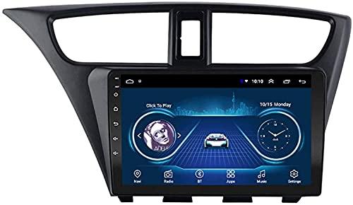 LYHY Android 10.0 AutoRadio Navigazione GPS Lettore Multimediale 1080P HD Touchscreen Compatibile con Honda Civic 2012-2017 WiFi Bluetooth FM MP5 DSP Mirrorlink Ricevitore Video 4G + WiFi