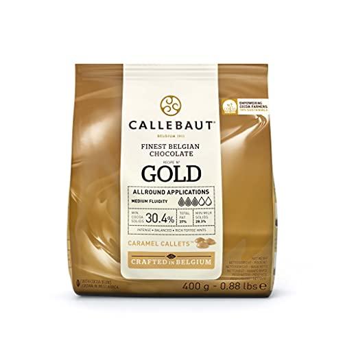 Callebaut Gold (30,4%) - Cioccolato bianco al caramello - confezione da 400gr